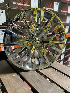 4 New 22x9 2019 Denali Chrome Wheels Gmc Yukon Chevrolet Replica Sierra Denali