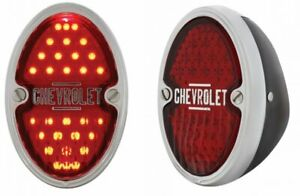 1933 1934 1935 Chevy Led Taillights Black Housing Assemblies Chevrolet Pair