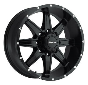 Full Set Of Mkw Offroad M89 17 Black Wheels For Ford F250 F350