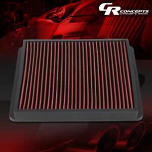 Red High Flow Intake Panel Air Filter For 1992 1999 Supra 2004 Tacoma 4runner