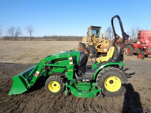 2014 John Deere 2025r Tractor 4wd H130 Loader Hydro 62d Belly Mower 96 Hrs