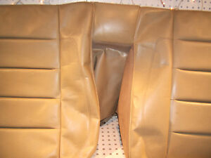 Mercedes W124 Sportline 500e Recaro Rear Seat Leather Parchment Top 1 Cover Only