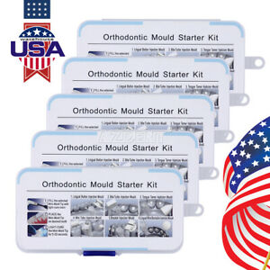 Usa 5 Kits Dental Orthodontic Mini Lingual Accessories Injection Mould Handle