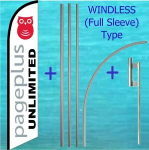 Page Plus Windless Banner Flag Pole Mount Kit Tall Advertising Feather Sign