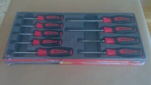 New Snap On 9pc Instinct Red Soft Grip Handle Torx Screwdriver Set Sgdtx90br