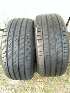 2 Tires 245 40 18 Pirelli Cinturato P7 9 10 32 Tread 93h Used No Patches 17 18