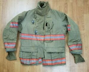Globe Gx 7 Firefighter Bunker Turnout Jacket 42 Chest X 32 Length Halloween