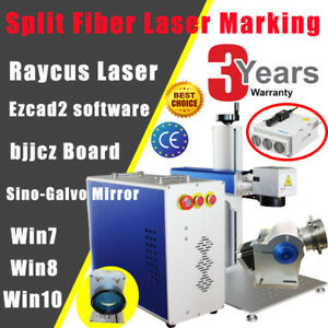 Us Raycus 30w Split Fiber Laser Marking Machine Engraver With Rotary Axis Fda