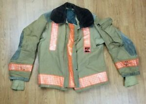 Vintage Globe Firefighter Bunker Turnout Jacket 38 Chest X 26 Length 1988