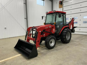 2019 Tym T354h 34hp Hydrostatic Tractor W Loader Cab Backhoe