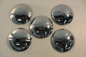 Vintage 1950 s 1960 s Baby Moon Hubcaps Center Hub Caps Dodge Chevy Ford Trailer