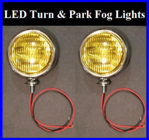 Led Turn Signal Running Park Lights 5 Amber Glass Fog Chrome Universal 12v 2