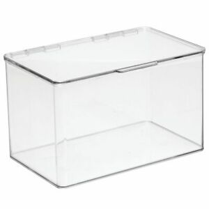 Mdesign Plastic Desk Organizer Bin Box For Home Office 8 Pack Clear