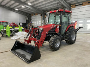 2019 Tym T454h 46hp Hydrostatic Tractor W loader backhoe cab