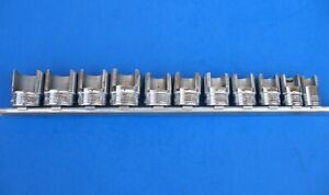 Used Snap on Weatherhead Socket Set 211fdy 3 8 25 32 W rail And Clips