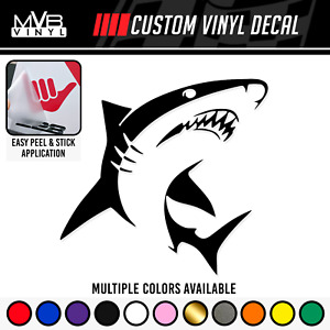Shark Vinyl Decal Sticker Ocean Surfing Shark Week Fishing Outdoor Beach 217