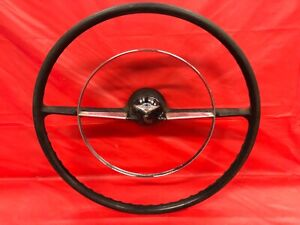 Vintage 1955 56 Chevrolet 210 Steering Wheel Good Condition Black
