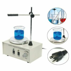 Hot heating Hot Plate Hotplate Magnetic Stirrer Mixer Chemical Laboratory New Us