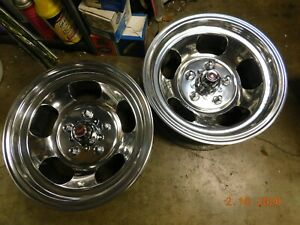 Pr Vintage 15x7 Slot Mag Wheels Chevy Gmc Truck Van 5 On 5 Full Size Gm Blazer