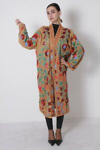 Hand Embroidery Vintage Uzbek Multicolor Suzani Robe Dress Sale Was 199 00