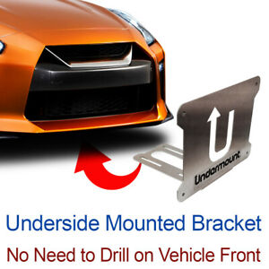 Under Mount License Plate Bracket Tag Frame Mounting Holder No Drill Front Niss