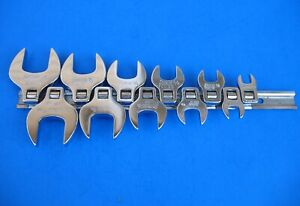Used Snap On Standard Open End Crowfoot Wrenches 211fco Set 3 8 1