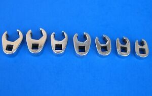 Used Snap On Standard Flare Nut 6 Point Crowfoot Wrenches 2075frh Set 3 8 3 4