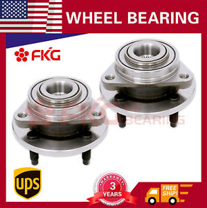 Pair New Front Wheel Hub Bearing For 03 07 Saturn Ion 05 09 Chevy Cobalt 513205