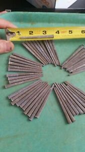50 Vintage Galvanized Square Cut Nails 2 1 2 New Old Stock Unused