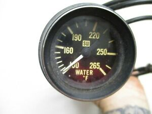 Vintage 1970 S 2 Stewart Warner Water Temperature Gauge Hot Rat Rod Gasser Sw