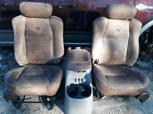 03 Ford F 150 King Ranch Crew Cab Leather Front Seats Center Console