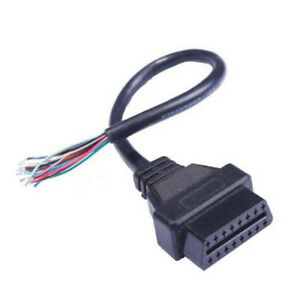 Obd2 Obd Ii Open Cable 16pin Female Extension Connector Diagnostic Extender Hot