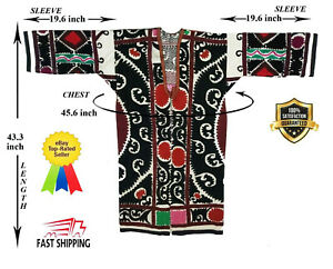 Uzbek Original Hand Embroidery Vintage Suzani Jacket Robe Dress Sale Was 109 00