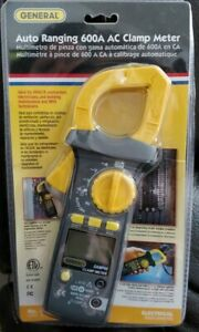 General Auto Ranging 600aac Clamp Meter Damp60