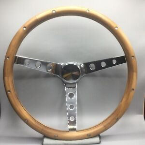 Custom 15 Classic Unique Teak Wood Steering Wheel