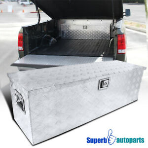 44 X15 X15 Pickup Truck Rv Tool Box Storage Under Bed Trailer W Lock Handle