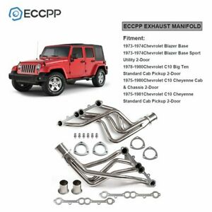 Eccpp For Small Block Chevy Heavy Duty Truck Header Set Stainless Steel 73 1985