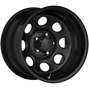 4 Black Rock 997b Soft 8 15x8 6x4 5 0mm Black Wheels Rims 15 Inch