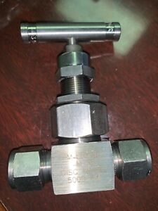 New Whitey Monel 1 2 Needle Valve Swagelok Ref M 6nbs8 m sh