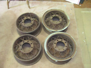 4 Vintage Wire Wheels 1930 Or 1931 Cadillac Or Lasalle Rat Rod 16 Diameter