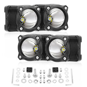 Super Bright 4 Inch Cree Led Fog Lights Off Road Tractor Bull Bar Driving Round