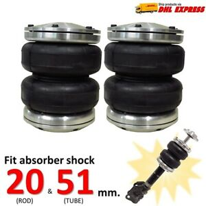 2 Universal Air Bags Sleeve 2500lbs For Shock 20 51 Mm Lift Ride Suspension Kit