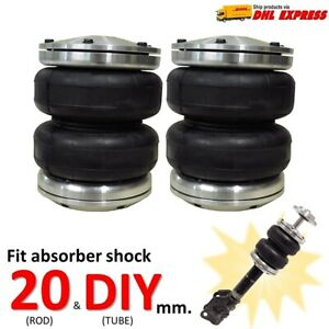 2 Universal Air Bags Sleeve Fit Shock Absorber Rod 20 Mm Spring ride Suspension