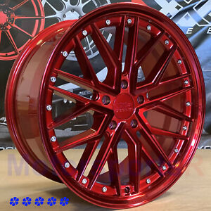 Xxr 571 18 X8 5 35 Candy Red Rims Wheels 5x114 3 20 Acura Tlx Rsx Rdx 08 Tl Tsx