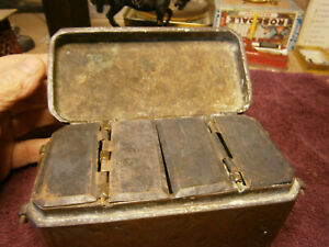 Antique Primitive Brass Cloisenne Medicine Herb Box Very Old Interesting