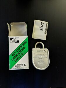 Sargent And Greenleaf Inc 8077 108 Combination Padlock Black Dial