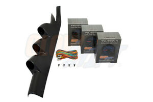 Glowshift 52mm Triple Pillar Pod 3 Tinted 7 Gauges For 05 14 Ford Mustang