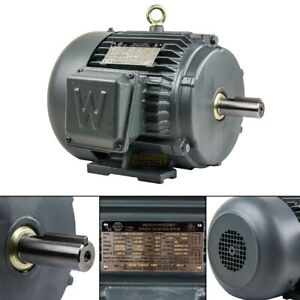 3 Hp 3 Phase Electric Motor 1800 Rpm 182t Frame Tefc 230 460v Premium Efficiency