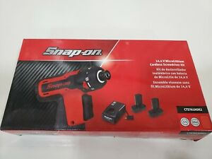 New Snap On 14 4 V 1 4 Hex Drive Microlithium Cordless Screwdriver Kit