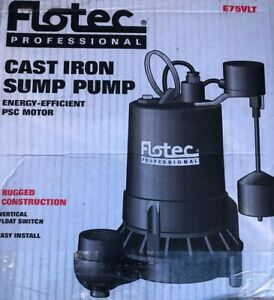Flotec E75vlt Professional Sump Pump W Vertical Float Switch 5280 Ghp 3 4 Hp